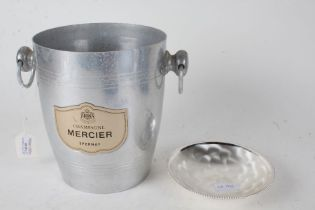 Mercier Champagne bucket, with loop carrying handle either side, 22cm high, together with a WMF