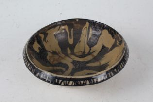 Christine Coulson, slipware bowl, signed and dated 1962 to base, 20cm diameter