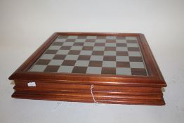 The Camelot Chess Set, by Danbury Mint, complete pewter set, with certificate of authenticity and