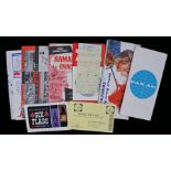 Collection of ephemera relating to Texas 1963, to include the Pan Am flight paperwork, a map Dallas,