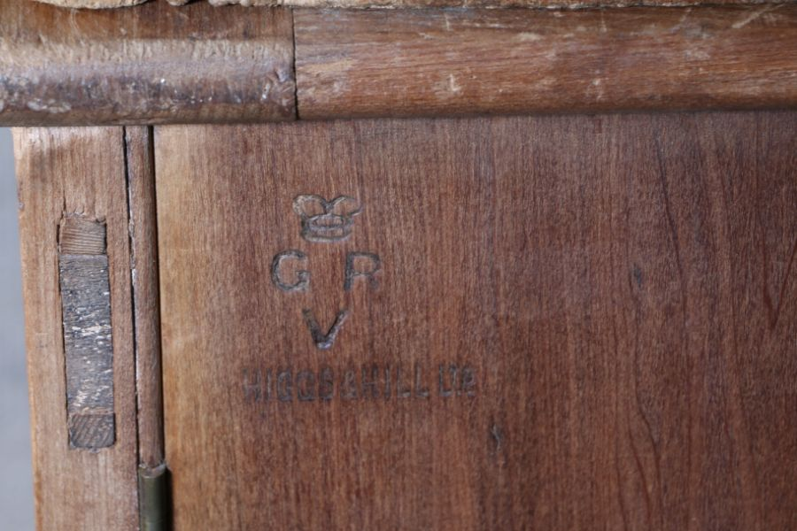 George V period ex-government pine haberdashery cupboard, by Higgs & Hill Ltd., the panelled doors - Image 3 of 3