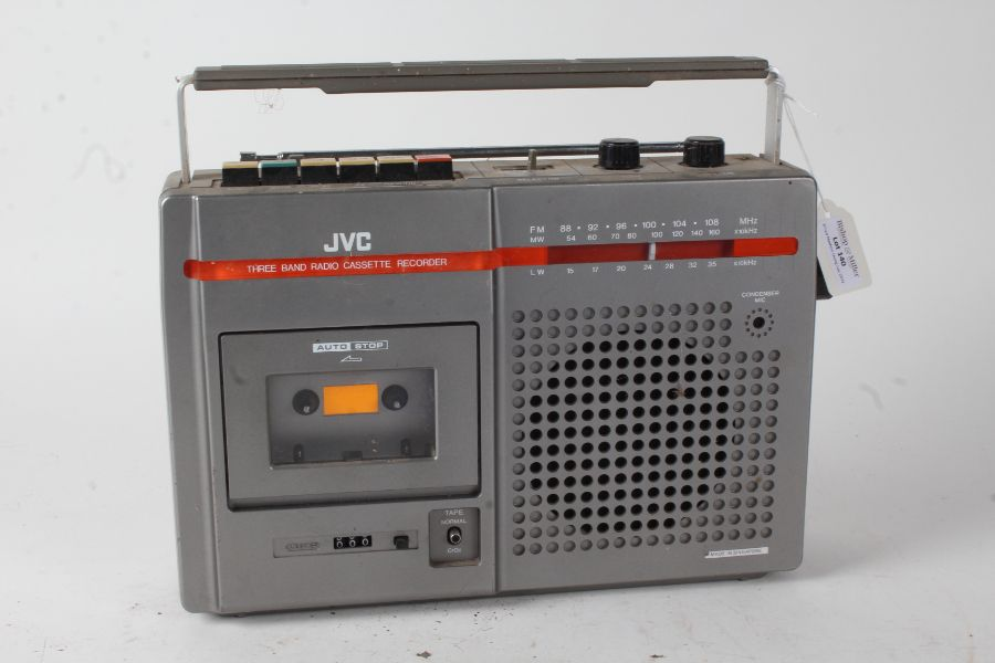 JVC three band radio cassette recorder (lacking lead), 31cm wide