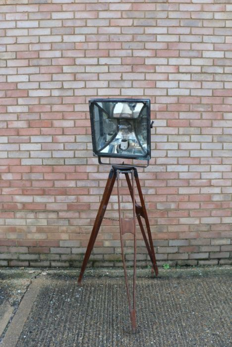 Industrial design, a early 20th Century Stage/theatre light, the lamp section with an arched