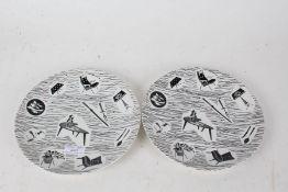 Two Midwinter Homemaker dinner plates, 23cm diameter