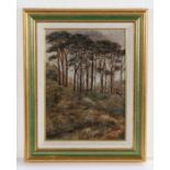 Frederick Golden Short (1863-1936), Wooded Hillside, signed oil on board, dated 1912, housed in a