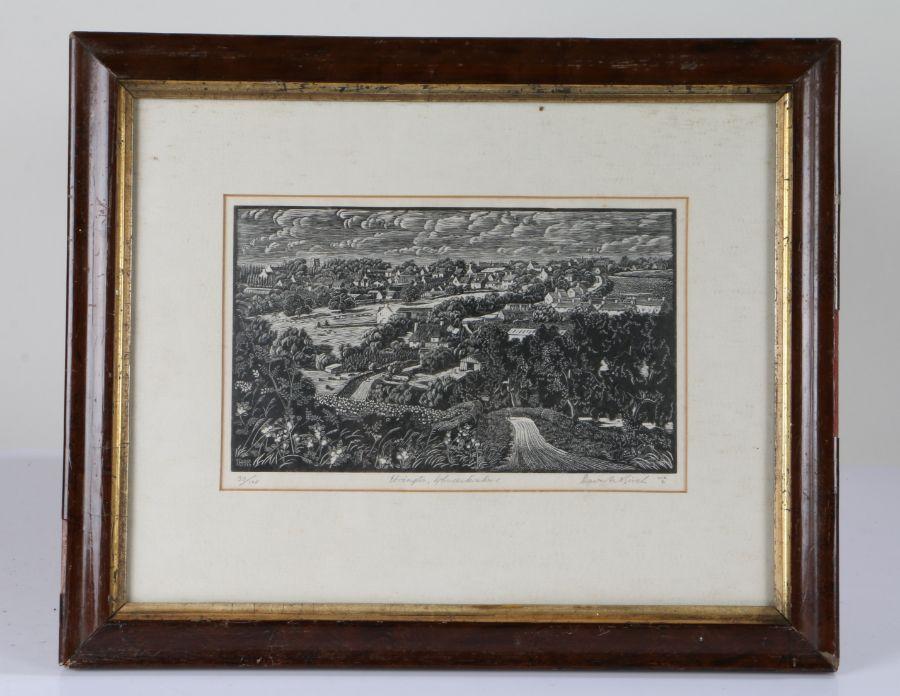 David Birch, original hand printed wood engraving, Ebrington Gloucestershire, limited edition number - Image 2 of 2