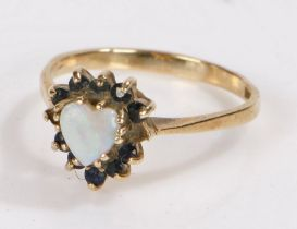 9 Carat Gold ring with an opal stone, ring size M
