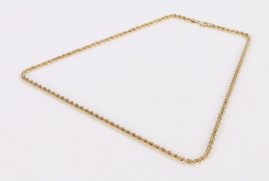 9 carat gold necklace, 51cm long, 4.3g