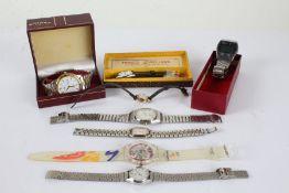 Wristwatches to include Swatch Sydney 2000 Olympics, Seiko Quartz, Lorus, Citizen, etc. (8)
