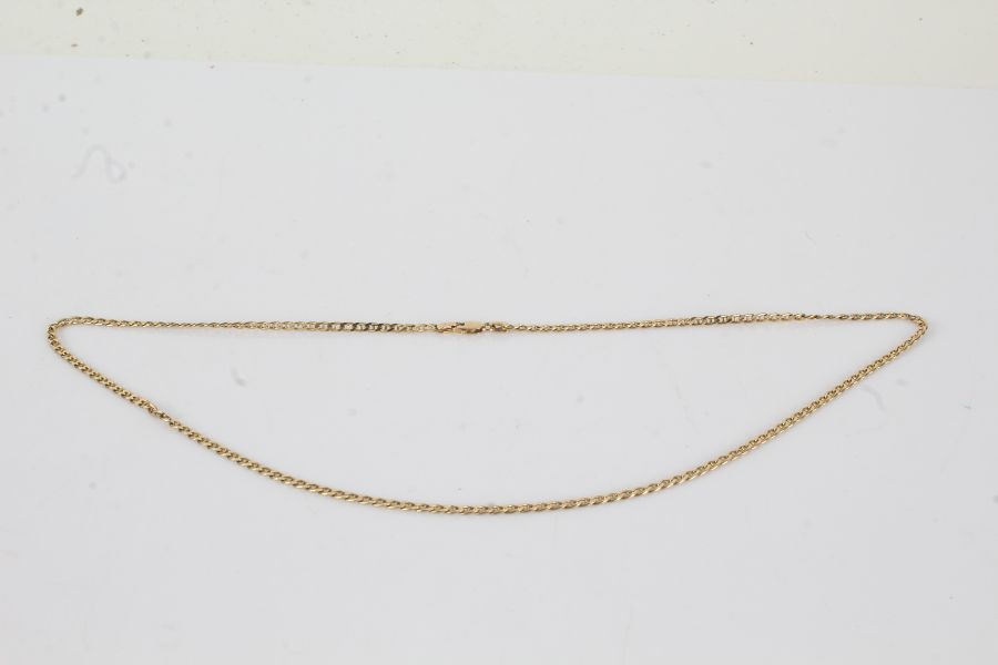 9 carat gold chain link necklace, 54cm long, 9.5g