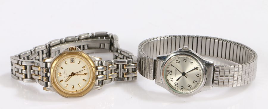 Ladies Sekonda stainless steel wristwatch, the signed silver dial with Arabic numerals, quartz
