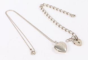 Two Silver lockets in a heart shape, gross weight 12.9g - VENDOR TO COLLECT 13.08.21, IN SAFE - MG
