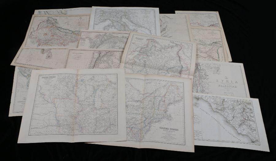 Collection of fifteen world maps, to include The Dispatch Atlas, Afghanistan, Syria, Central