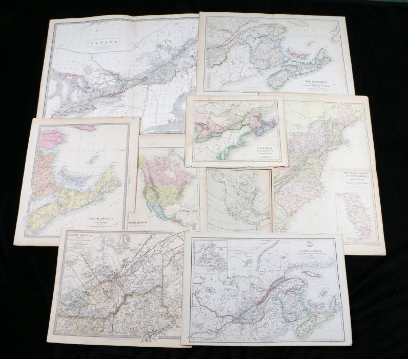 United States and Canada maps, to include Lower Canada New Brunswick Nova Scotia &c, North America