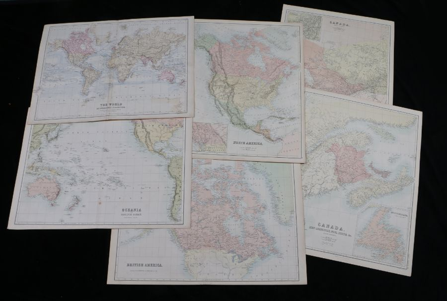 J. Bartholomew, coloured map engravings, The World on Mercator's Projection, Oceania and Pacific
