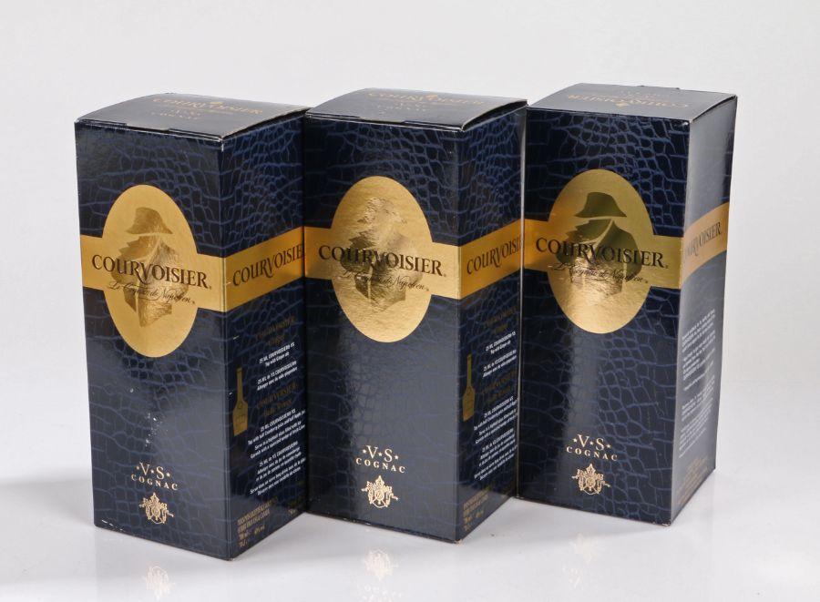 Courvoisier VS Cognac, 75cl, 40%, three boxed bottles, (3) - Image 2 of 2