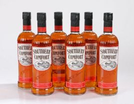Southern Comfort whisky, 35%, six bottles, (6)
