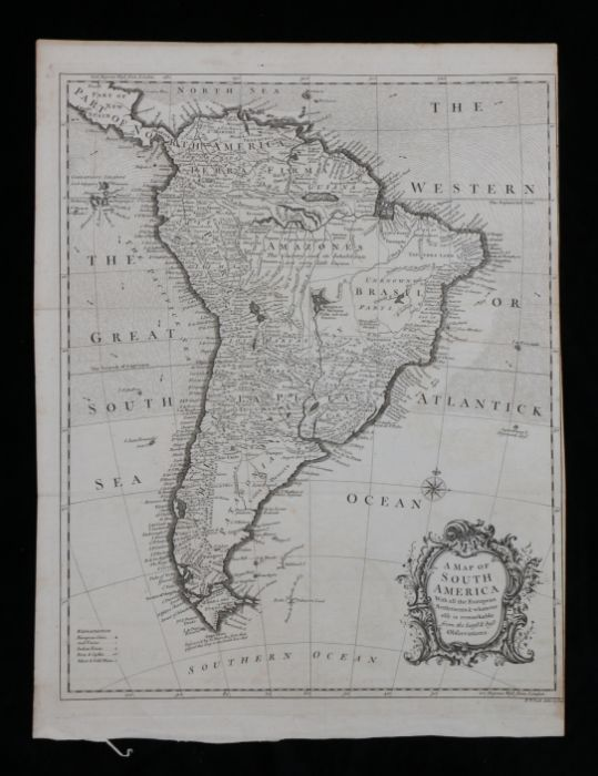 """R.W. Seale, 18th Century map engraving, """"A MAP OF SOUTH AMERICA, with all the European"""