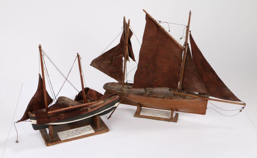 "Model of a Lowestoft fishing boat LT112 ""Boy William"", 50cm wide, 39cm high, model of a Zulu built"