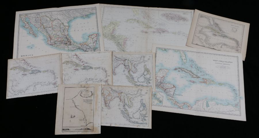 Maps to include T. Kitchin map of Cape Verde, two East Indies, three West Indies, Mexico, The West