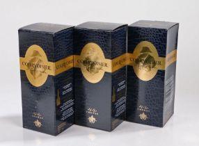 Courvoisier VS Cognac, 75cl, 40%, three boxed bottles, (3)