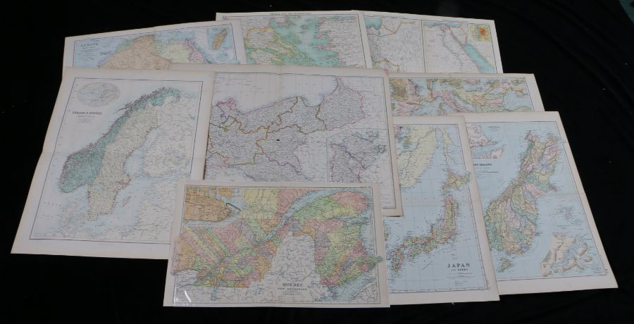 Collection of Bacon's, Bartholomew and other world maps, to include Africa, Mediterranean, New