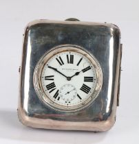 """20th century Swiss nickel cased """"200 Hours"""" goliath pocket watch, with Roman dial and subsidiary"""
