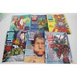 Collection of 2000 AD comics featuring Judge Dredd,1990's, approx.90 comics
