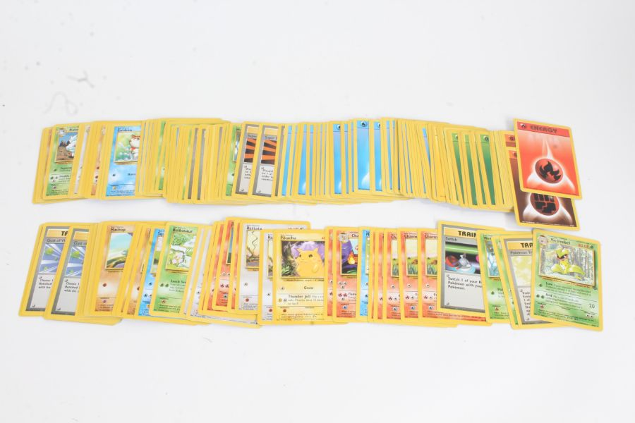 Collection of Pokemon TCG cards, to include Beedrill 17/102, Pokemon Trader 77/102, Victreebel 30/