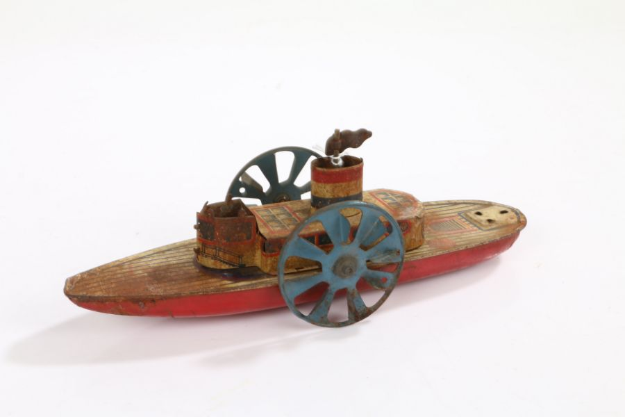 Tinplate paddle steamboat, 24cm long - Image 2 of 2