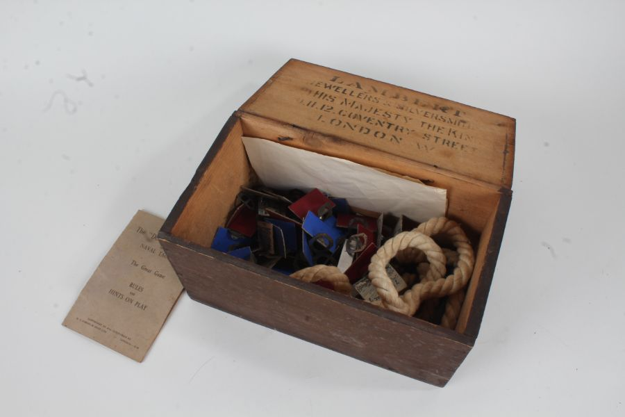 """The """"Dover Patrol or The Great Game, housed in a non-contemporary box, inscribed to interior of"""