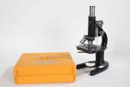 Winkel-Zeiss Gottingen monocular microscope, number 52329, Fisher Price tool kit (2)