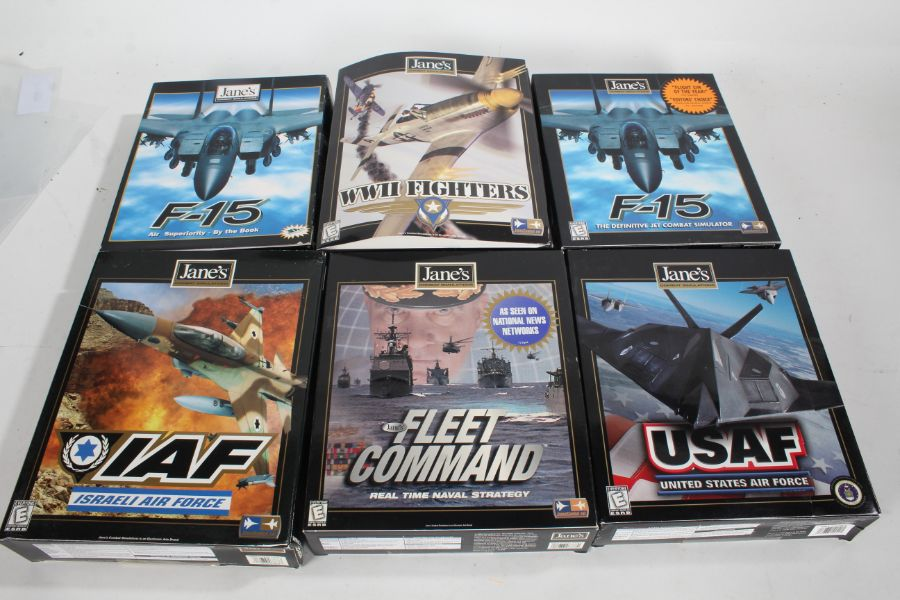Collection of Janes Combat Simulations including F-15 (2), United States Air Force, Fleet Command (