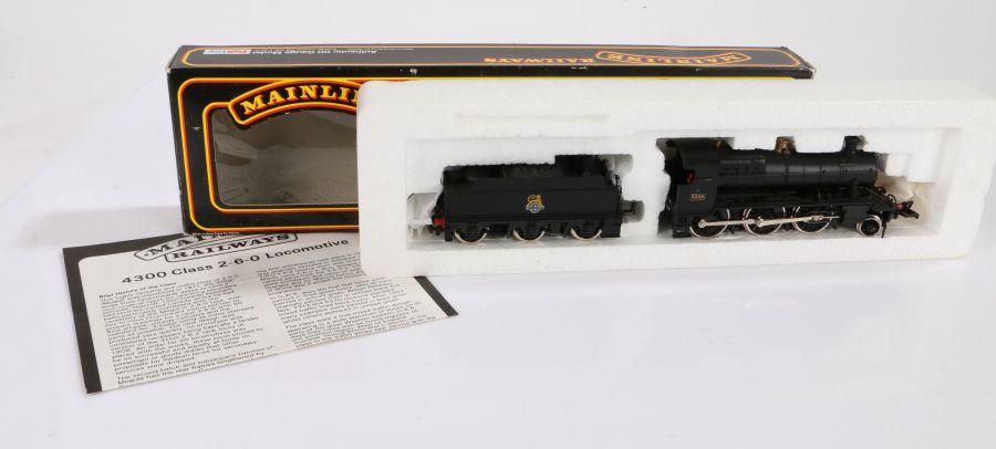 Mainline Railways OO gauge 37091 43XX Mogul Locomotive B.R. black, boxed
