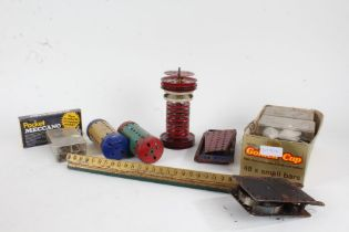 Four boxes of various Meccano parts and accessories (4)