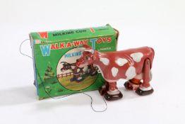 Marx Walk-A-Way Toys 'Milking Cow', with original box