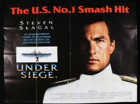 Under Siege (1984) British Quad poster, starring Steven Seagal, folded