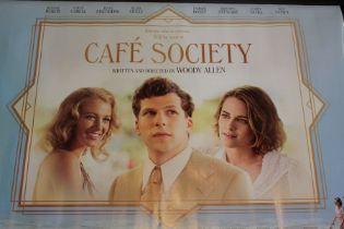 Cafe Society (2016) - British Quad film poster, starring Jesse Eisenberg, rolled, 76cm x 102cm