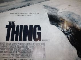 The Thing (2011) - British Quad film poster, starring Mary Elizabeth Winstead, rolled, 76cm x 102cm