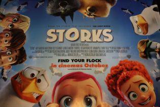 Storks (2016) - British Quad film poster, starring Andy Samberg, rolled, 76cm x 102cm