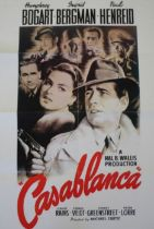 Casablanca film poster, later print for The Times, with text to the reverse, 84cm x 59cm
