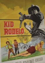 """Kid Rodelo (1966) - Argentinian film poster, starring Don Murray and Janet Leigh, folded, 29"""" x 43"""""""