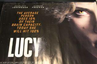 Lucy (2014) - British one sheet film poster, starring Scarlett Johansson and Morgan Freeman, rolled,
