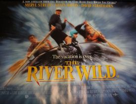 The River Wild (1994) - British Quad film poster, starring Meryl Streep and Kevin Bacon, rolled,