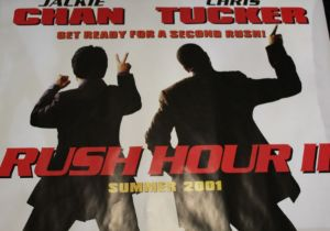 Rush Hour 2 (2001) - British Quad film poster, starring Jackie Chan and Chris Tucker, rolled, 76cm x