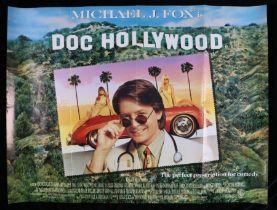 Doc Hollywood (1991) British Quad poster, starring Michael J. Fox, folded