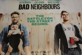 Bad Neighbours (2014) - British Quad film poster, starring Seth Rogen, Rose Byrne, and Zac Efron,