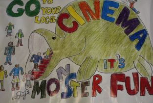 Go To Your Local Cinema, a poster created for National Cinema Day, designed by Melissa Holdsworth,