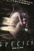 Species (1995) - British one sheet film poster, starring Natasha Henstridge, rolled, 69cm x 102cm