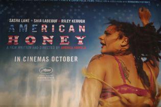 American Honey (2016) - British Quad film poster, starring Sasha Lane and Shia LaBeouf, rolled, 76cm